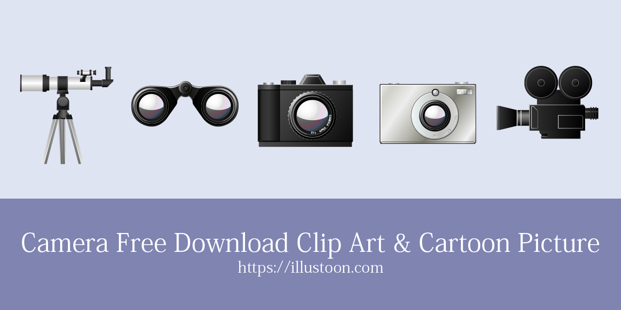 Free Camera Clip Art and Cartoon Picture