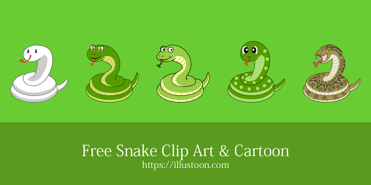 Free Snake Clip Art & Cartoon Picture