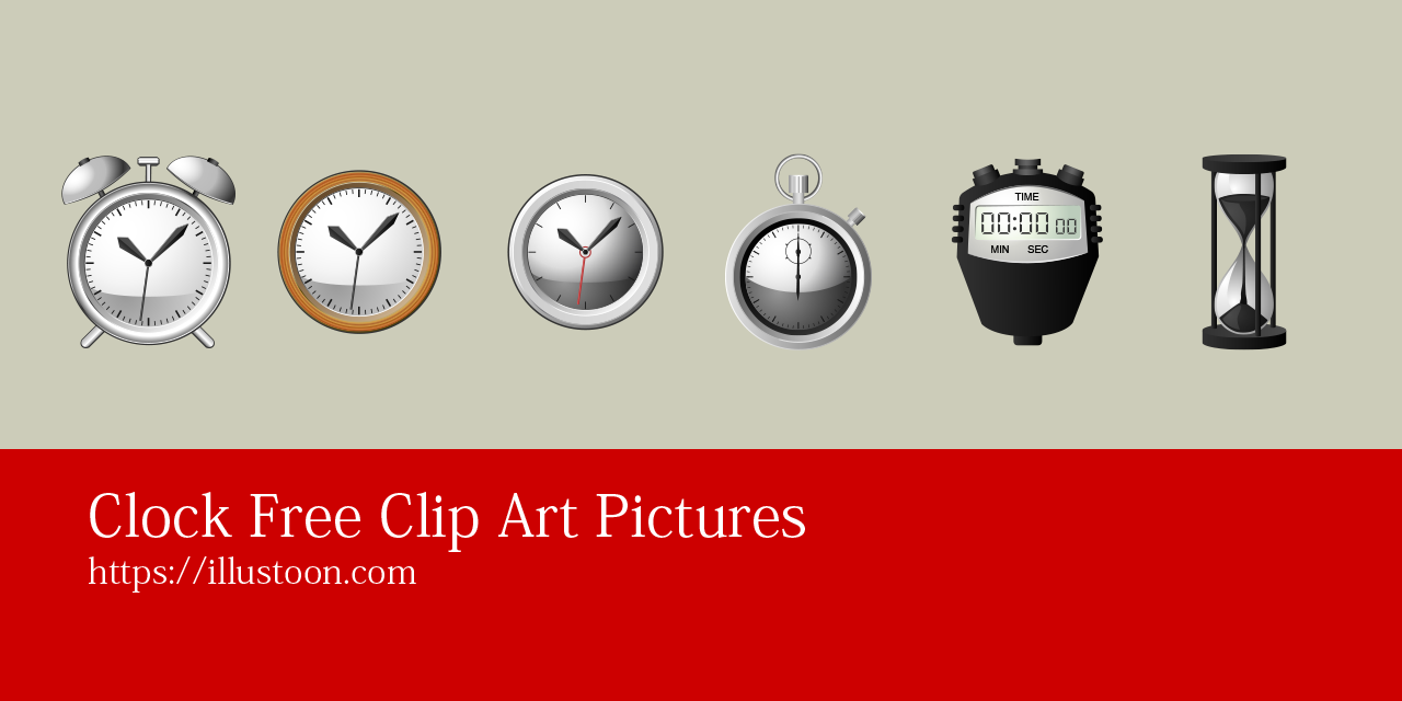 Clock Free Clip Art and Cartoon Pictures