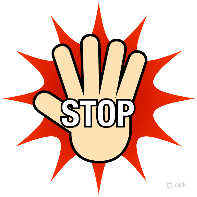 Stop sign high resolution. Hand free picture illustoon