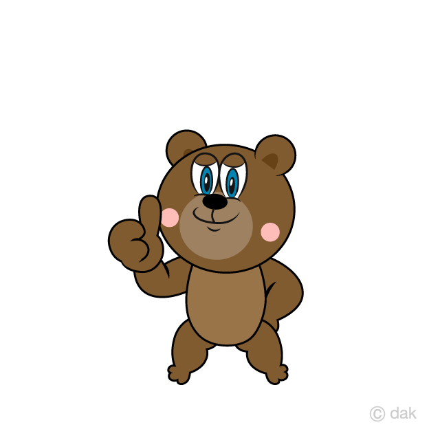 Thumbs up Bear Cartoon
