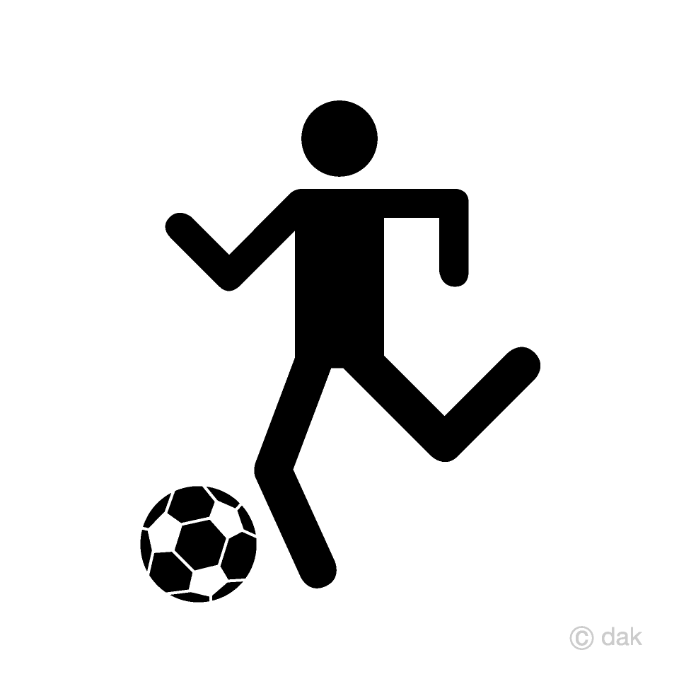 Soccer Dribble Pictogram
