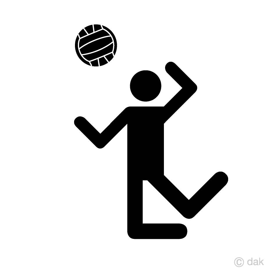 Volleyball Spike Pictogram