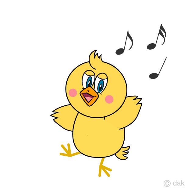 Dancing Chick Cartoon
