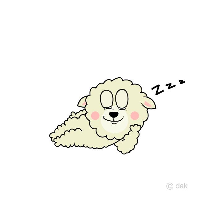 Sheep sleeping. Cartoon free picture illustoon