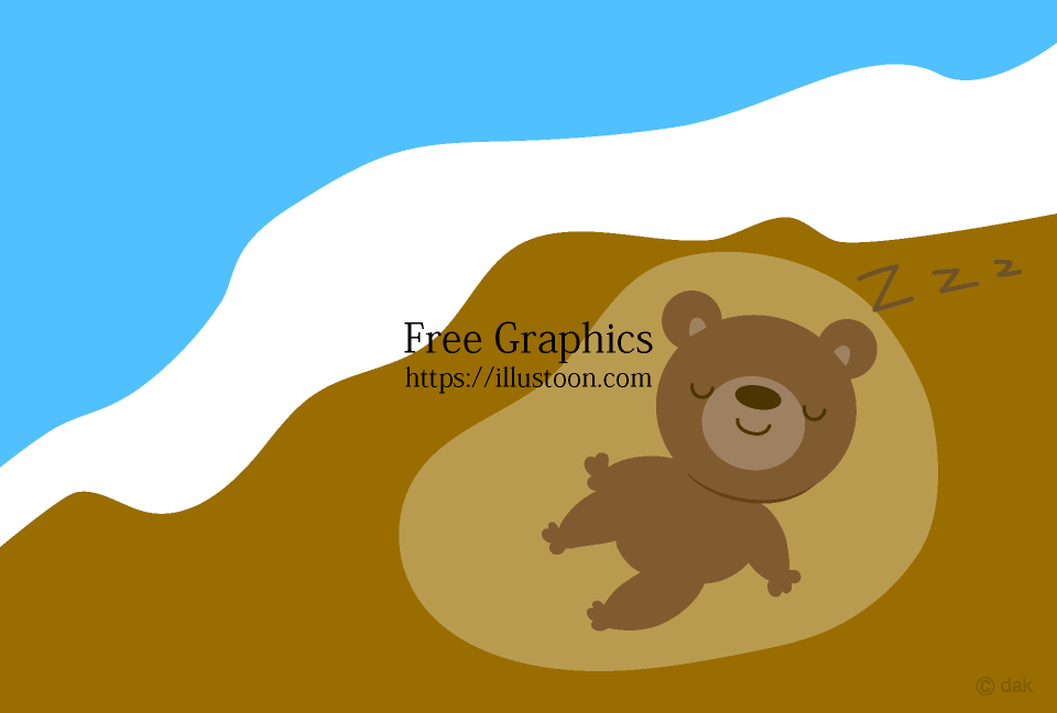 Hibernating bear Cartoon picture
