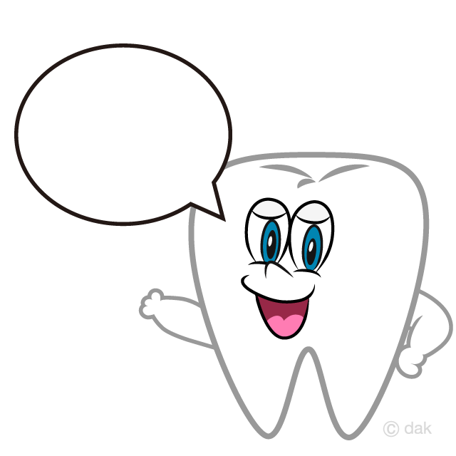 Speaking Tooth Cartoon