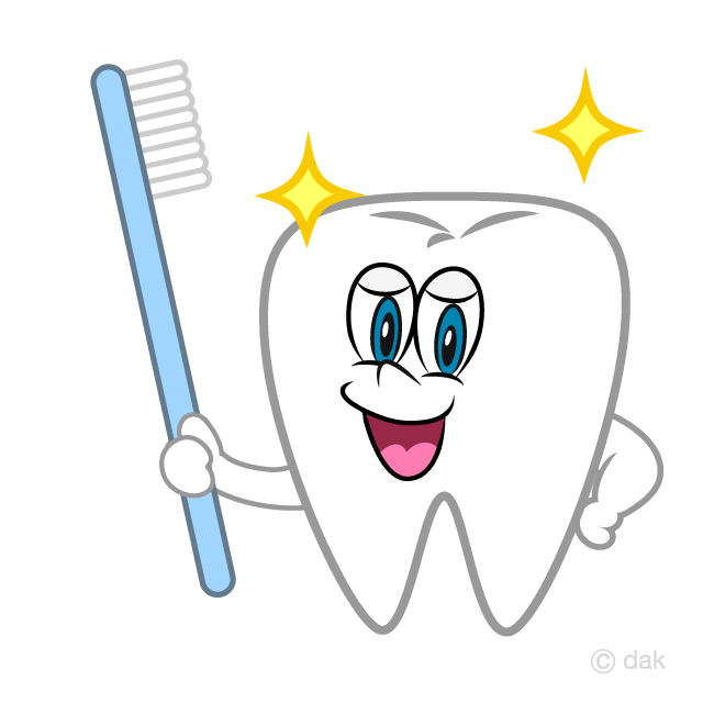 Toothbrush and Tooth Cartoon