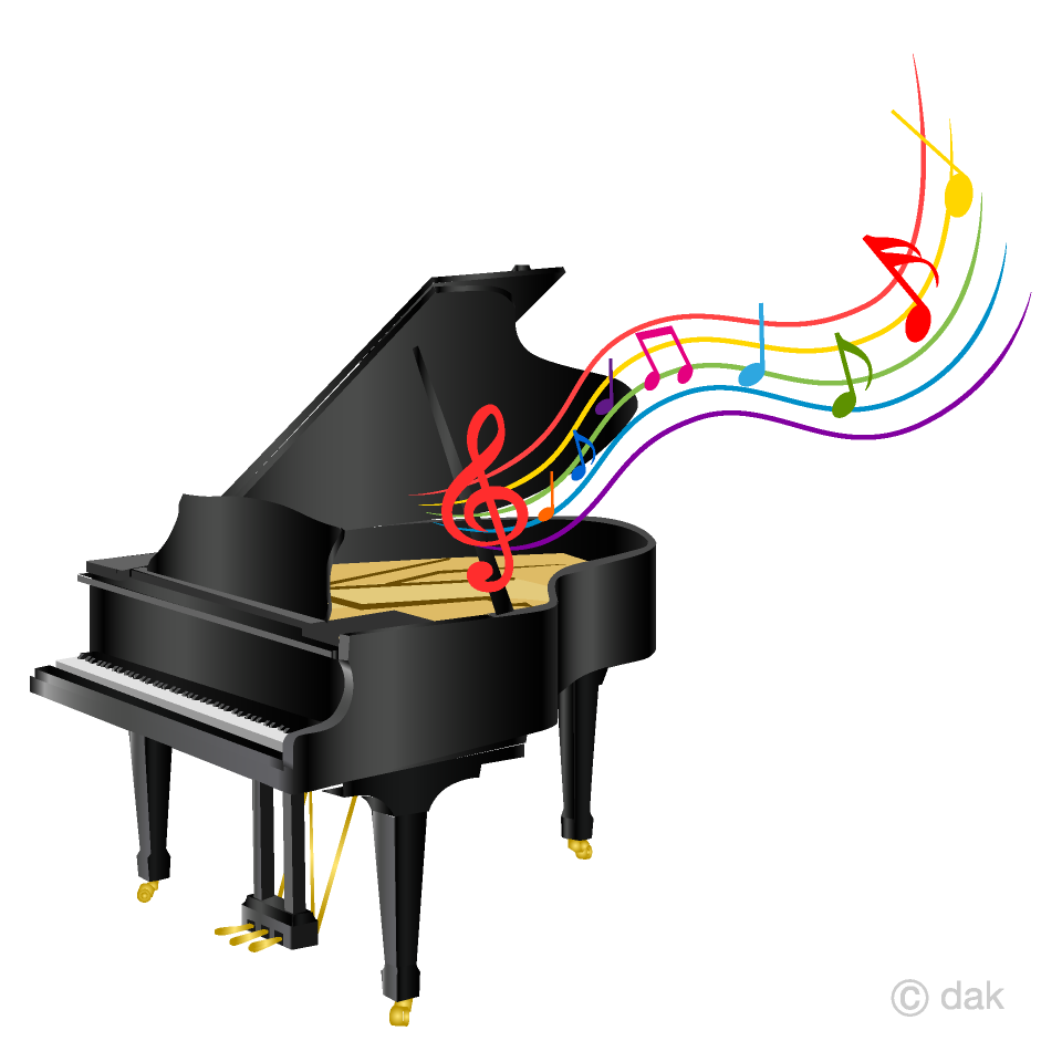 Piano And Music Sheet Clipart Free Png Image Illustoon