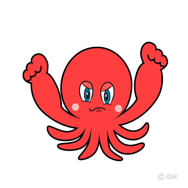 Angry Octopus Cartoon