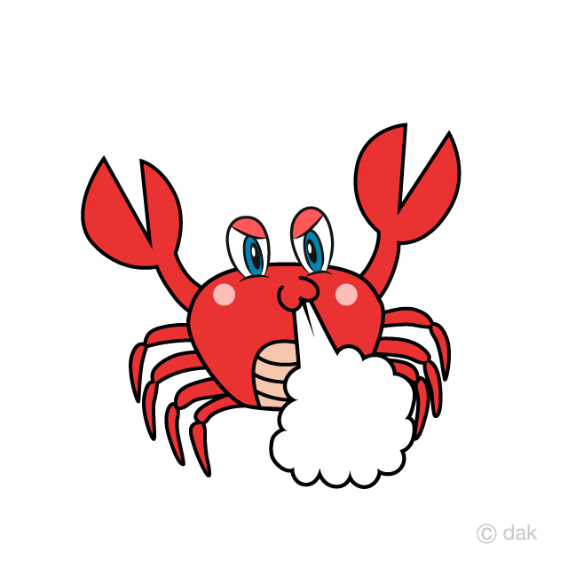 Crab Foaming Cartoon