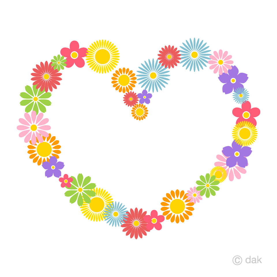 Flower Wreath Heart Clipart