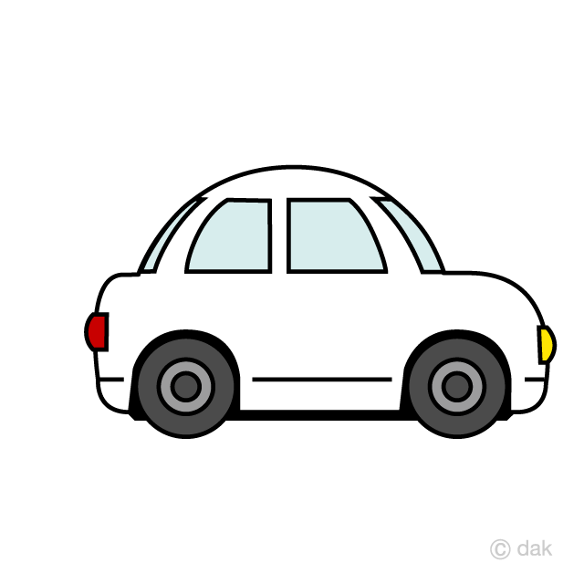 Car white. Cute clipart free picture