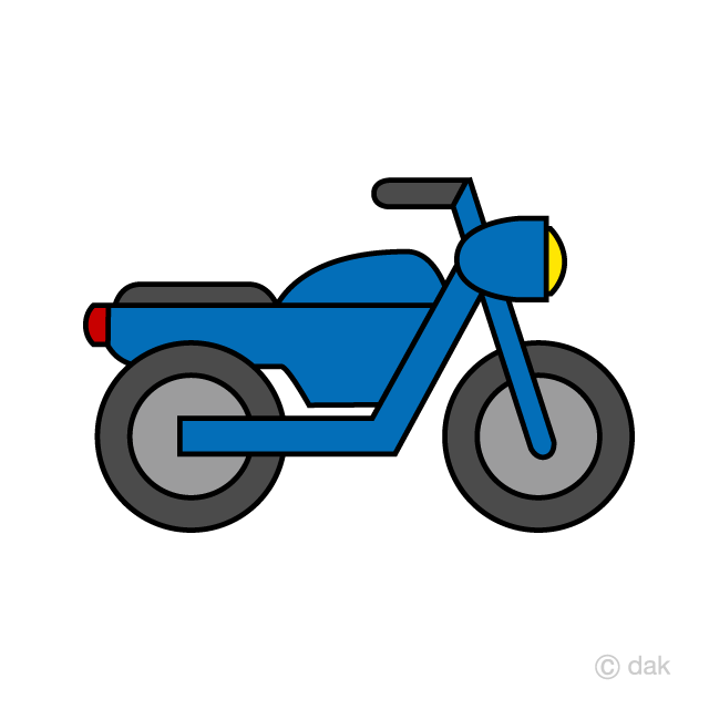 Simple Motorcycle Clipart Free Picture Illustoon
