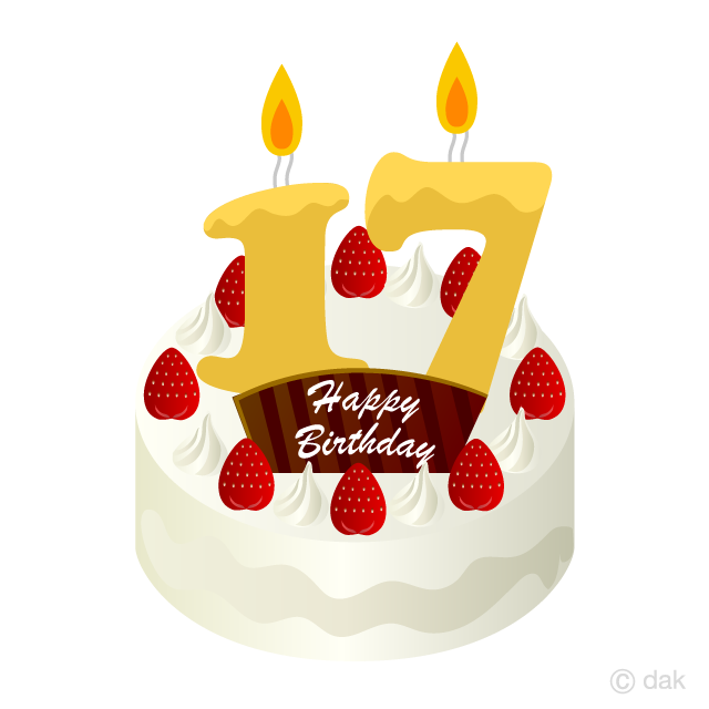Prime 17 Years Old Candle Birthday Cake Clipart Free Png Imageillustoon Funny Birthday Cards Online Alyptdamsfinfo