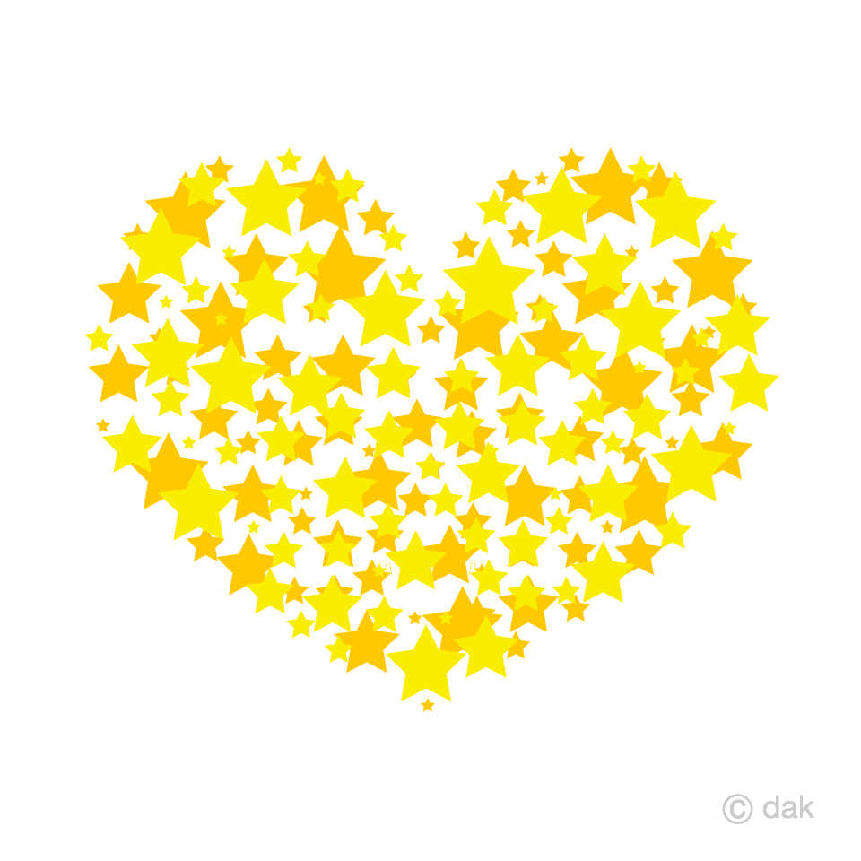 Spreading Stars Heart Clipart