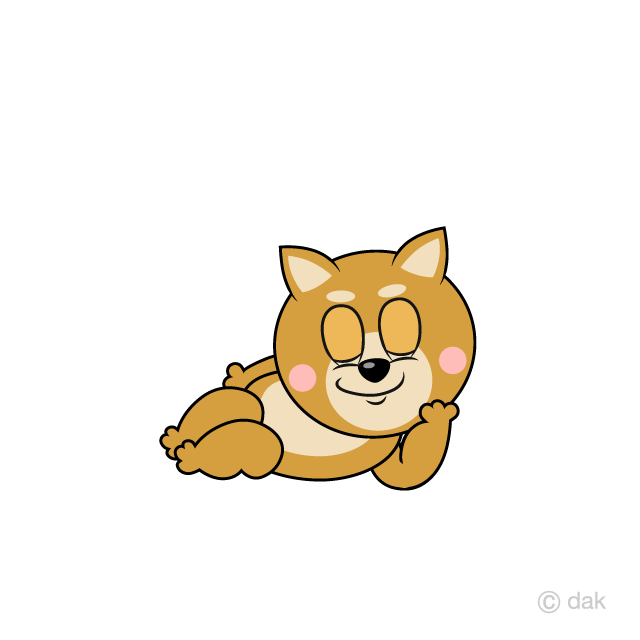 Sleeping Shiba Inu Cartoon