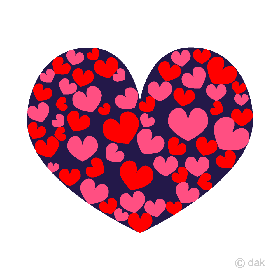 Many Hearts Spread over Clipart