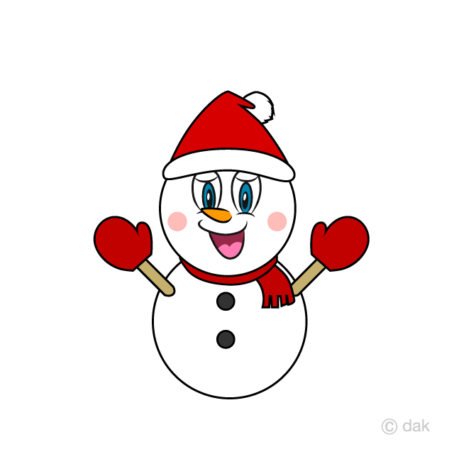 Santa Snowman Cartoon