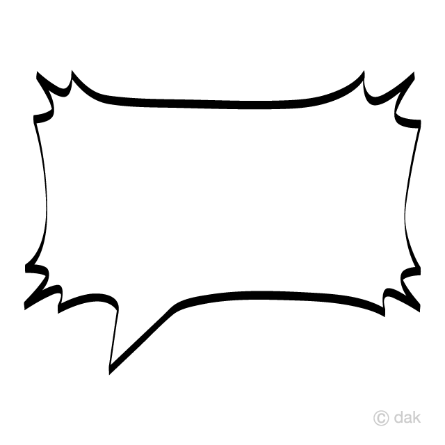 Square Comic Speech Bubble Clipart