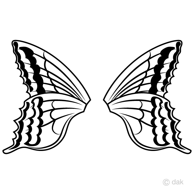 Butterfly Wings Clipart Free Pictureillustoon