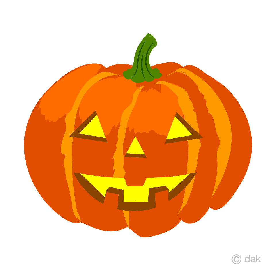 Glowing Halloween Pumpkin Clipart