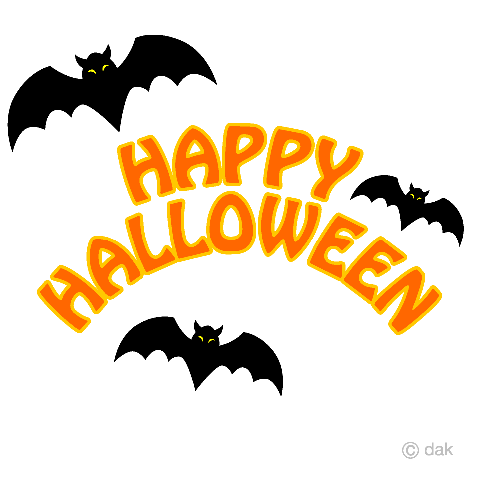 Bats Happy Halloween Clipart Free Png Image Illustoon