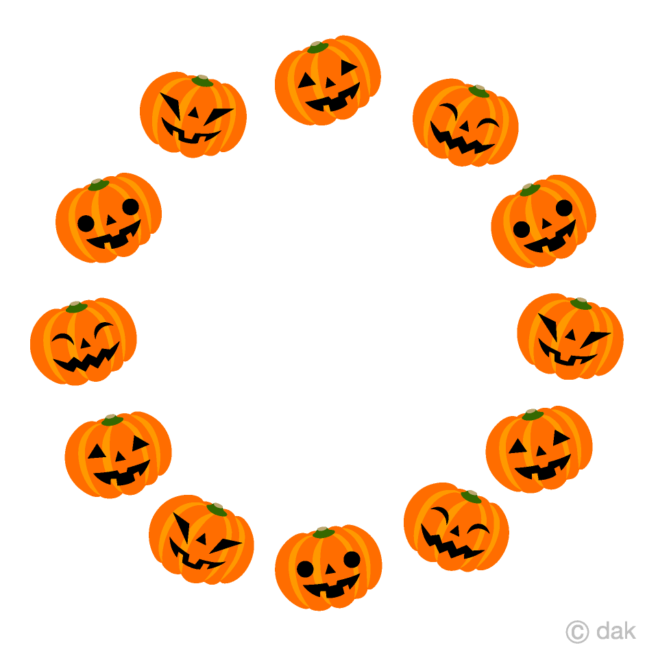 Wreath Pumpkin Clipart