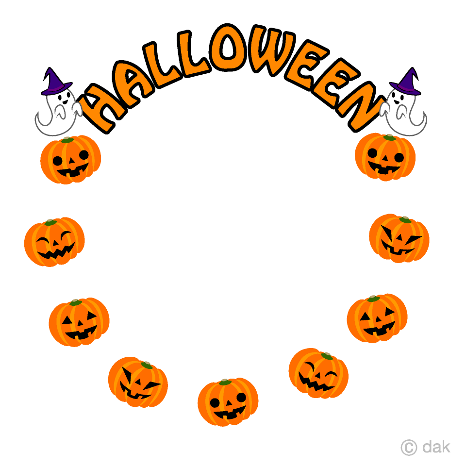 Halloween Pumpkin Circle Clipart