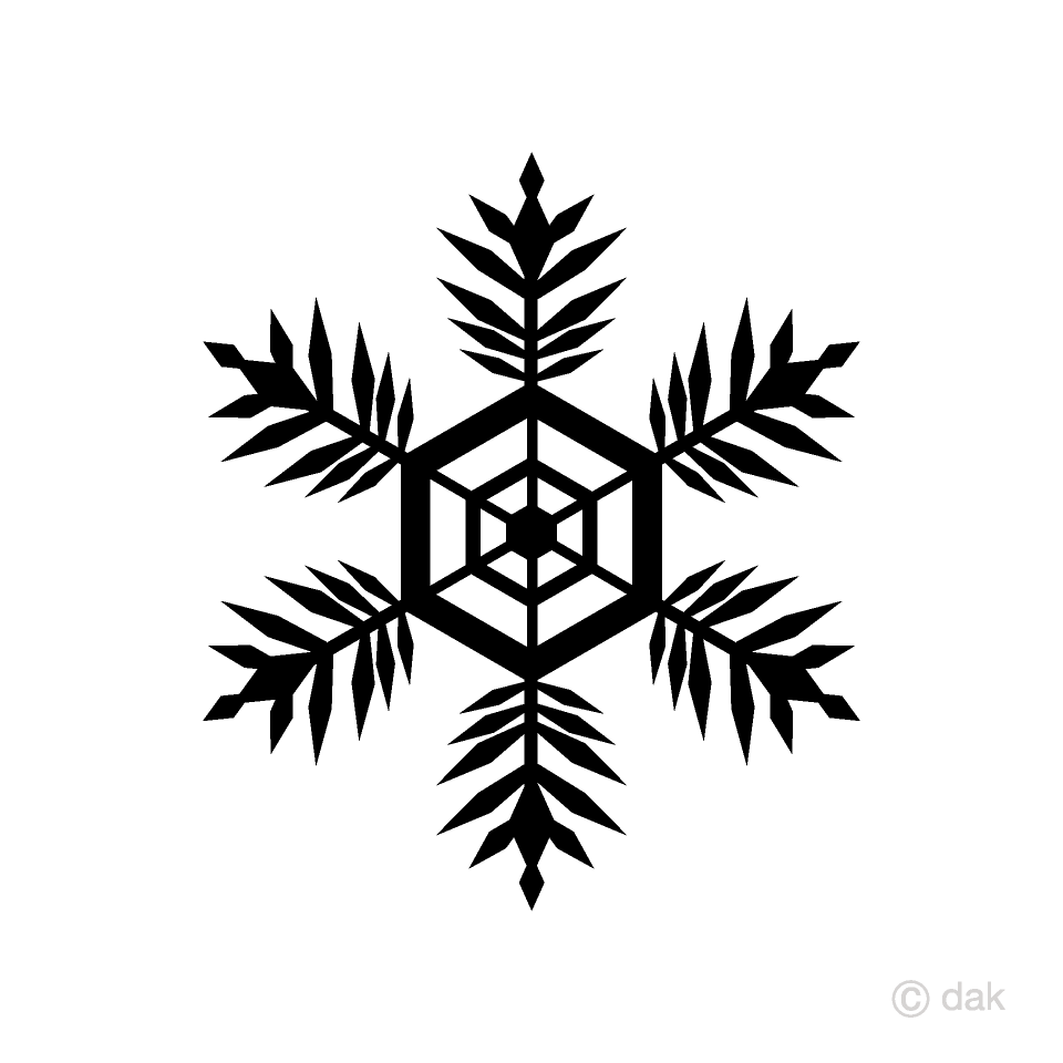 Snowflake Silhouette Clipart