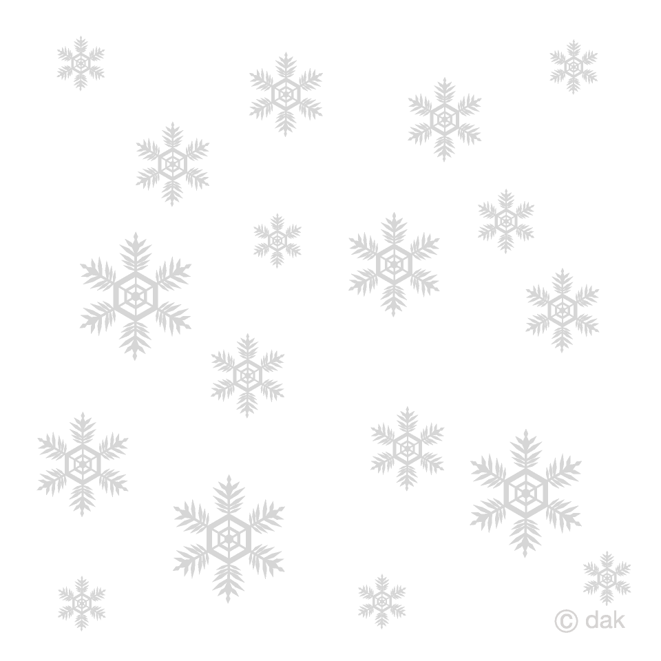Many Snow Crystals Clipart