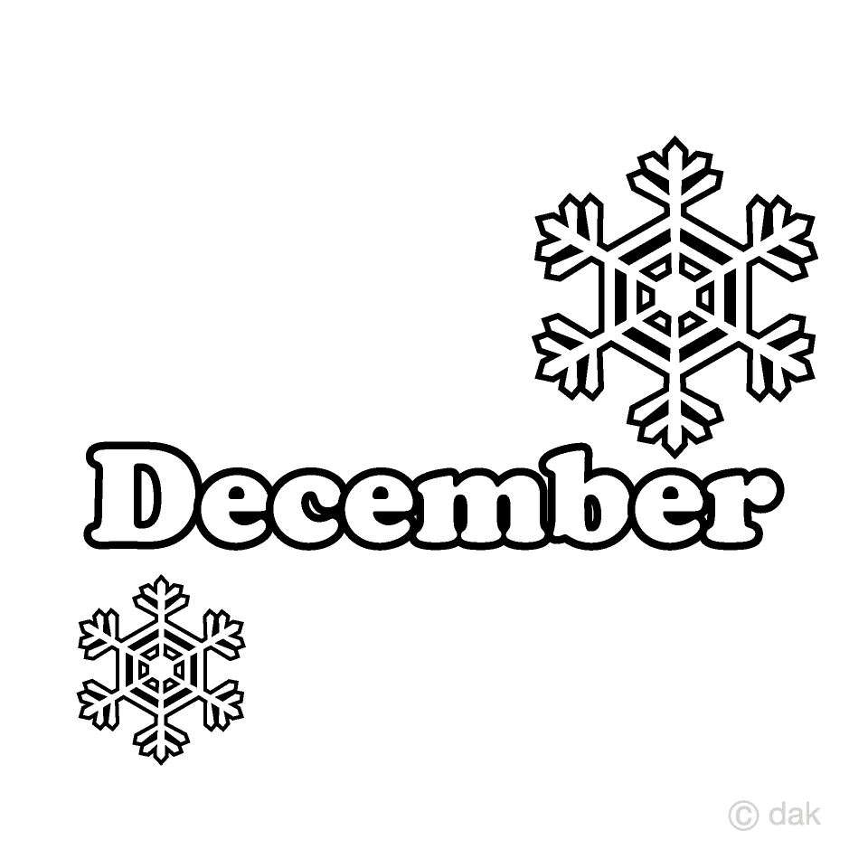 Snow Crystal and December Clipart