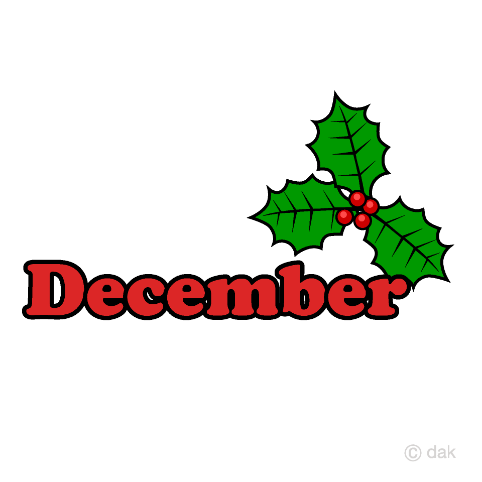 Holly December Clipart