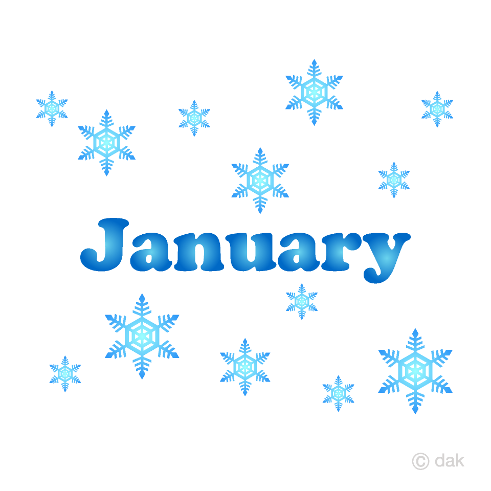 Snowflakes January Clipart