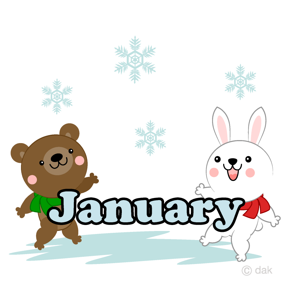 Animals January Clipart