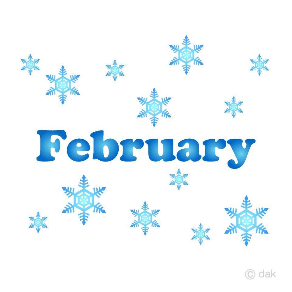 Snowflakes February Clipart