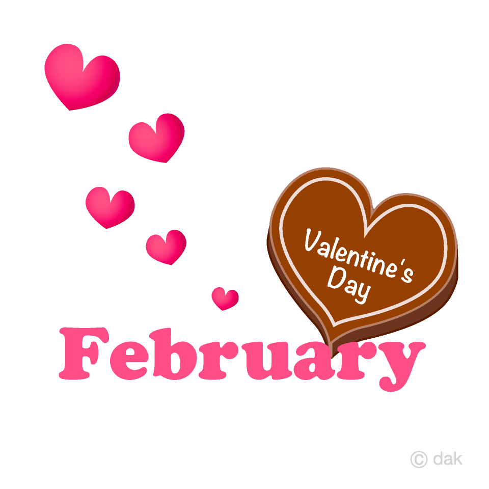 Valentine's Chocolate February Clipart