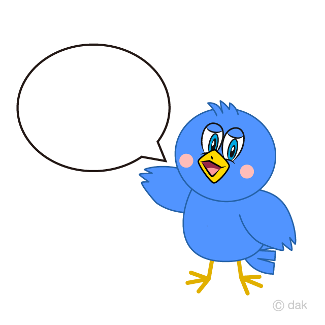 Speaking Blue Bird Cartoon