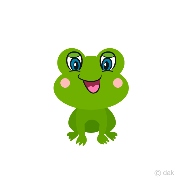 Cute Frog Laughing Cartoon