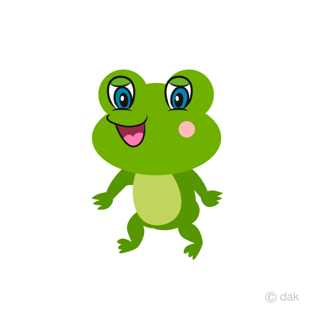 Cute Frog Walking Cartoon