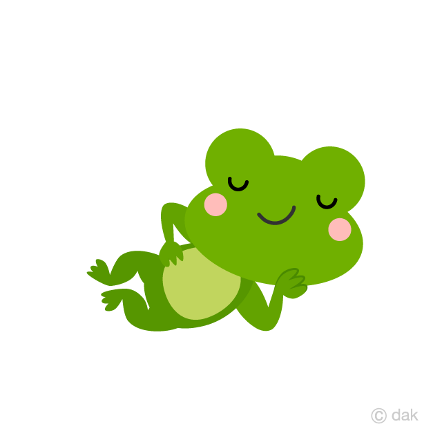 Cute Frog Sleeping Cartoon