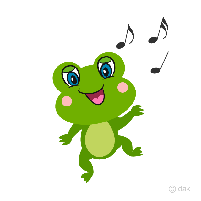Cute Frog Dancing Cartoon
