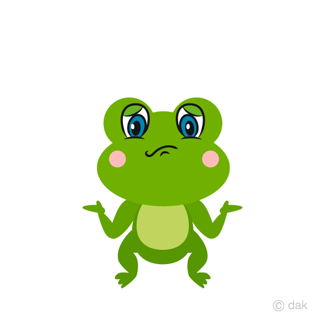 Cute Frog Troubled Cartoon