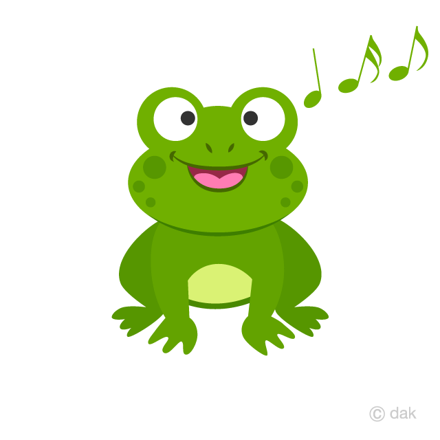 Singing Frog Clipart