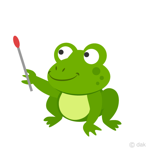 Frog to Explain Clipart