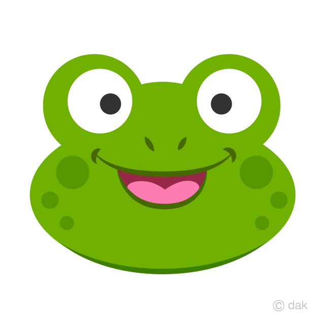 Frog Face Clipart