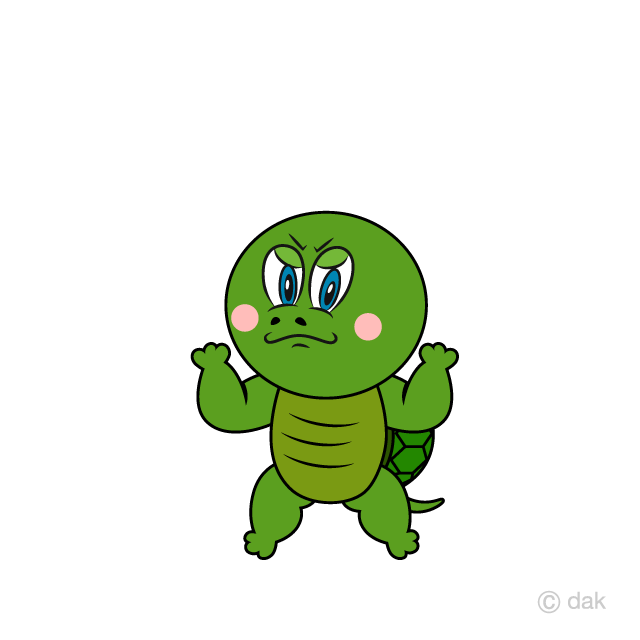 Angry Turtle Cartoon