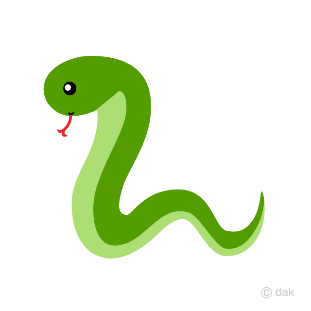 Simple Cute Snake Clipart