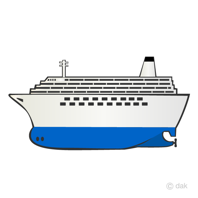 Large Cruise Ship Clipart Free Png Image Illustoon