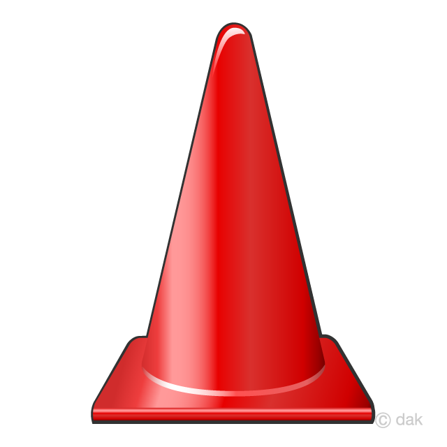 Red Cone Clipart Free PNG Image|Illustoon